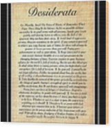 Double Matted Fossilized Desiderata Wood Print