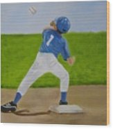 Double Play Wood Print