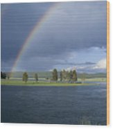 Double Rainbow At Alum Creek Wood Print