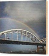 Double Rainbow Wood Print