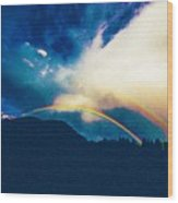 Double Rainbow Over Provo, United States Wood Print