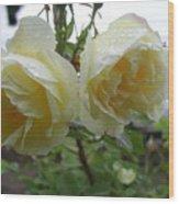 Double Rainy Rose Wood Print