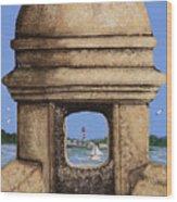 Double Sentry Wood Print