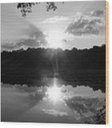 Double Sun Set  Wood Print by D R TeesT