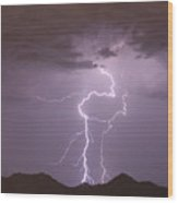 Double Trouble Fine Art Lightning Photography Wood Print
