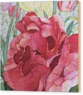 Double Tulip Wood Print