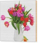 Double Tulips Bouquet Wood Print