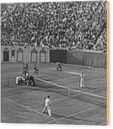Doubles Tennis At Forest Hills Wood Print