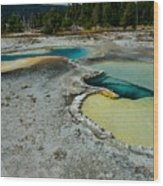 Doublet Pool Hot Spring In Yellowstone Wood Print