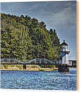 Doubling Point Lighthouse Wood Print
