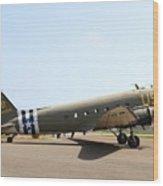 Douglas C47 Skytrain Military Aircraft 7d15788 Wood Print