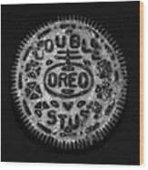 Doulble Stuff Oreo In Black And White Wood Print