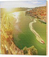 Douro River At Sunset Wood Print