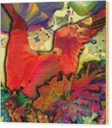Dove Wood Print