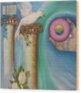 Dove Of Peace Wood Print