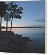 Dowdy Lake Silhouette Wood Print by James Steele
