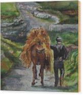 Down A Country Lane Wood Print