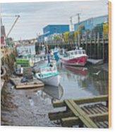 Down At Widgery Wharf Wood Print