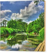 Down By The Riverside Wood Print by Kim Shatwell-Irishphotographer