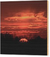 Down For The Count Sunset Art Wood Print