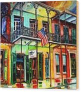 Down On Bourbon Street Wood Print