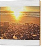 Down The Beach #beach Wood Print