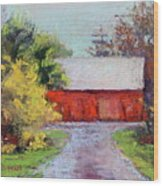 Down The County Road Wood Print