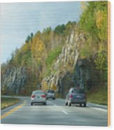 Down The Road On Route 89 Wood Print