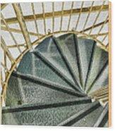 Down The Upstairs Wood Print