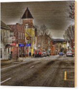 Down Town Lexington Va Wood Print by Todd Hostetter