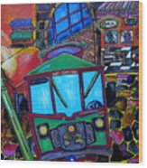 Down Town Trolley Wood Print