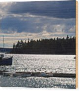Downeast Reflections Wood Print by Steven Scott