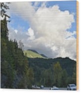 Downhill Road Wood Print