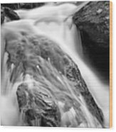 Downstream From Anna Ruby Falls Wood Print