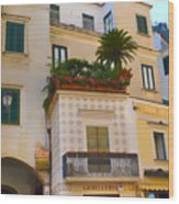 Downtown Amalfi Wood Print