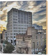 Downtown Appleton Skyline Wood Print