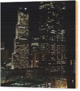 Downtown Atlanta Lights Wood Print