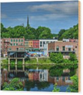 Downtown Augusta, Maine Wood Print
