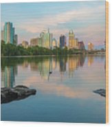 Downtown Austin Texas Skyline 2 Wood Print