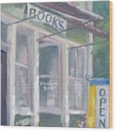 Downtown Books Four Wood Print