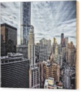 Downtown Chicago Cityscape 1  Wood Print