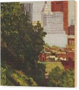 Downtown Cincinnati Wood Print