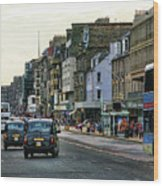 Downtown Edinburgh  Wood Print