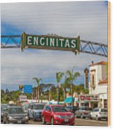 Downtown Encinitas Wood Print