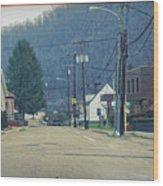Downtown Harlan Wood Print