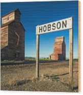Downtown Hobson, Montana Wood Print