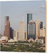 Downtown Houston Skyline Wood Print