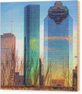 Downtown Houston Texas Skyline  Wood Print