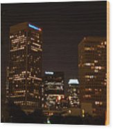 Downtown L.a. In Hdr Wood Print