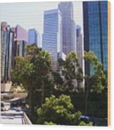 Downtown Los Angeles. 6th Street Wood Print